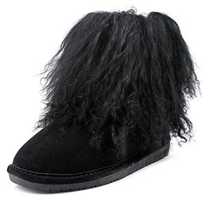 Bearpaw Womens Boo cold weather Black Suede Boot